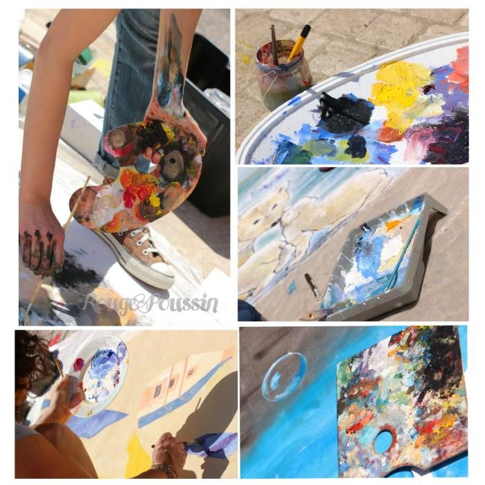 Les palettes des peintres du concours