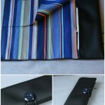 Trousse à pinceaux bleue dessus simili cuir