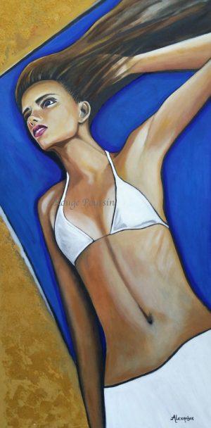 """Bain de soleil"" : Tableau de Carole Alexandre"