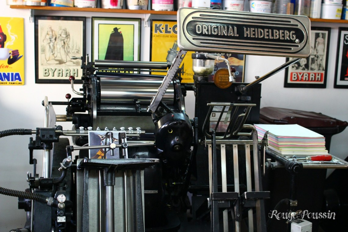"Ancienne machine à imprimer ""Heidelberg"""