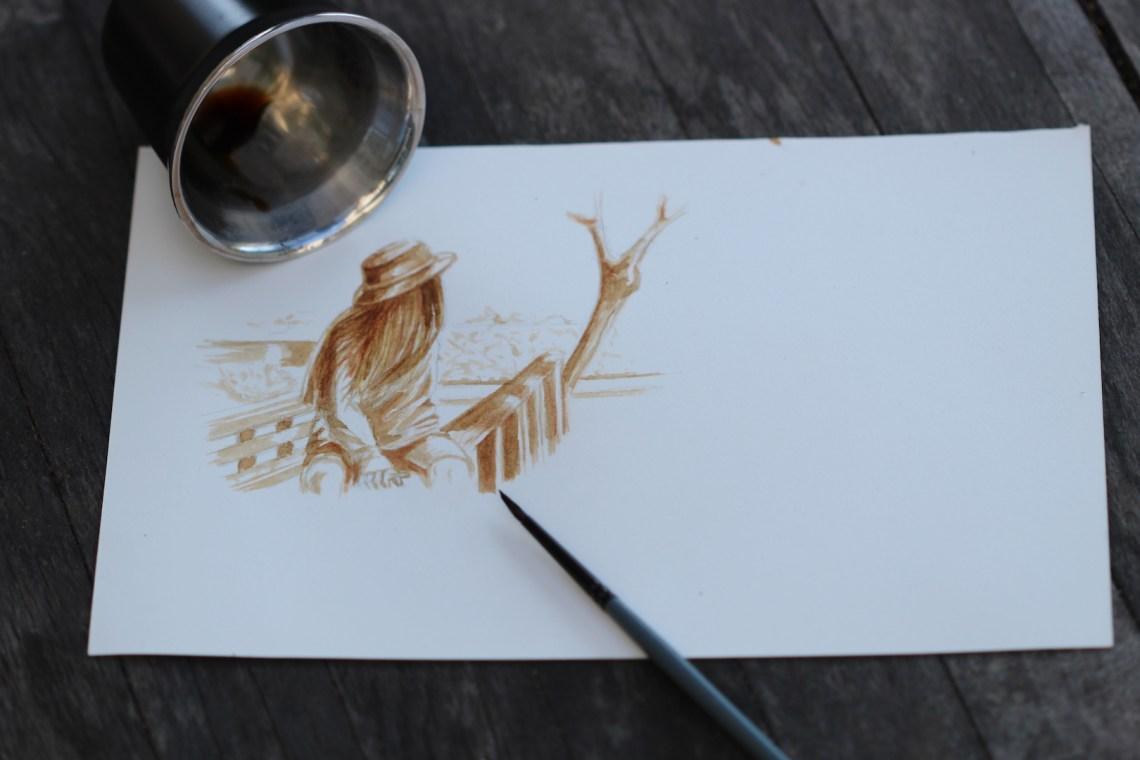 Profiter de la pause café pour réaliser quelques dessins.