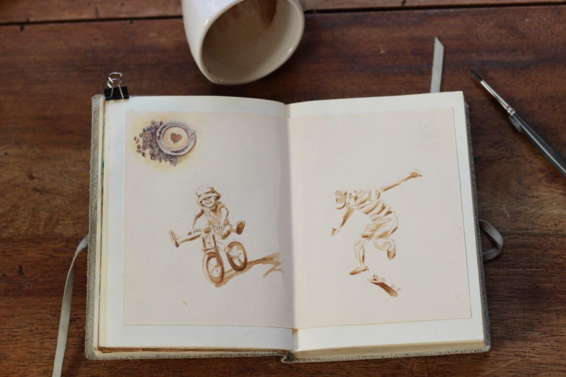 Quelques dessins réalisés à la pause café.