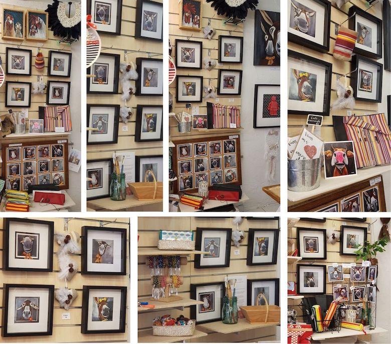 Les créations de Rouge Poussin dans la boutique de créateurs de Canet plage durant la saison 2019