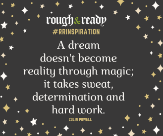 A dream doesn't become reality through magic; it takes sweat, determination and hard work.#rrInspiration
