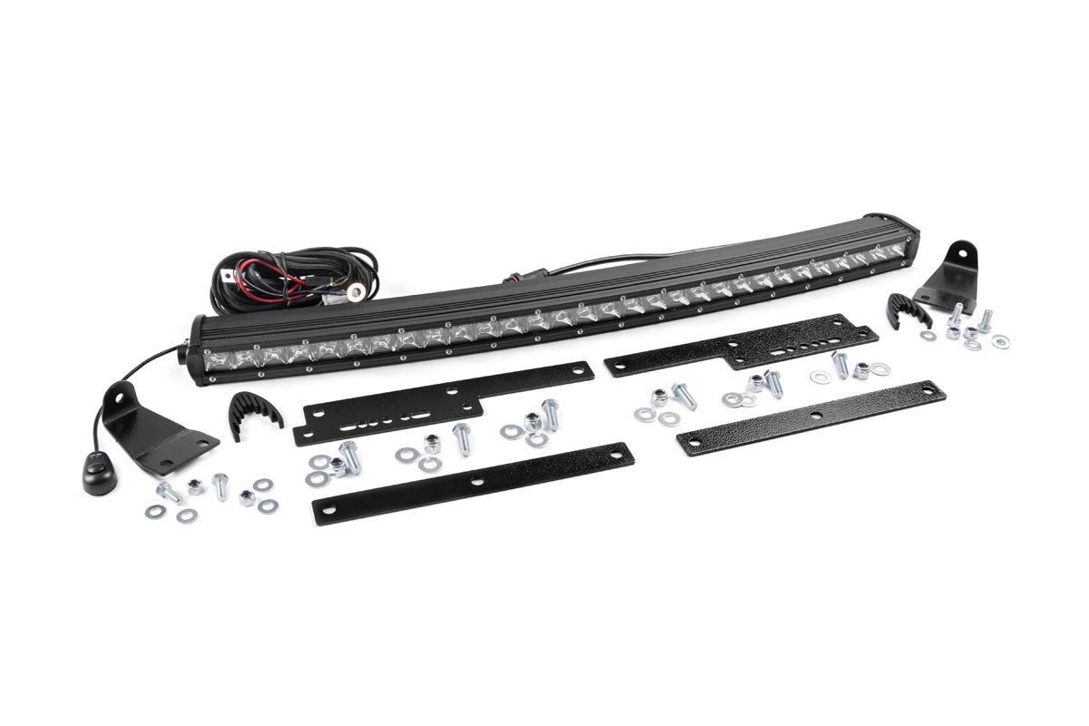 30in Single Row Led Light Bar Hidden Grille Kit For 14 18