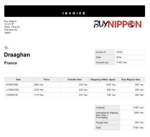 Ma facture pour 3 kick de Yamaha SRX