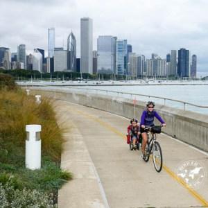 Chicago en famille à vélo, un charme !