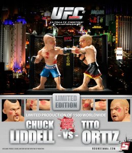 "Chuck ""The Iceman"" Liddell Vs Tito ""The Huntington Beach Bad Boy"" Ortiz UFC 47 UFC Versus Series 1 Limited Edition w/ Realistic Damage Detailing"