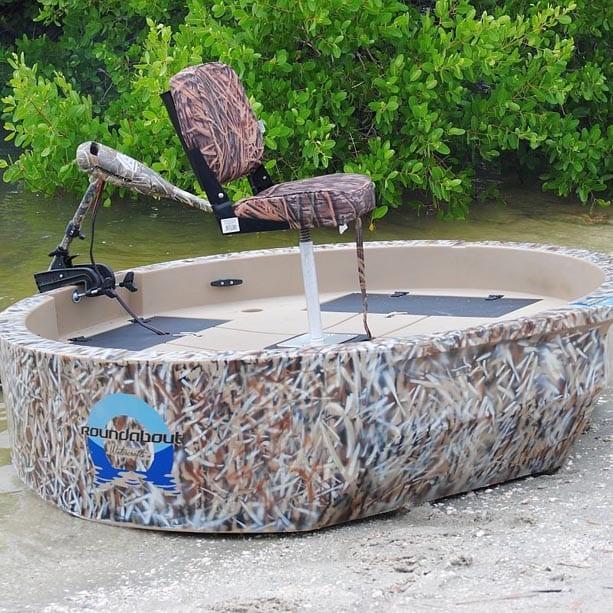 Round boat one man boat round skiff round watercraft