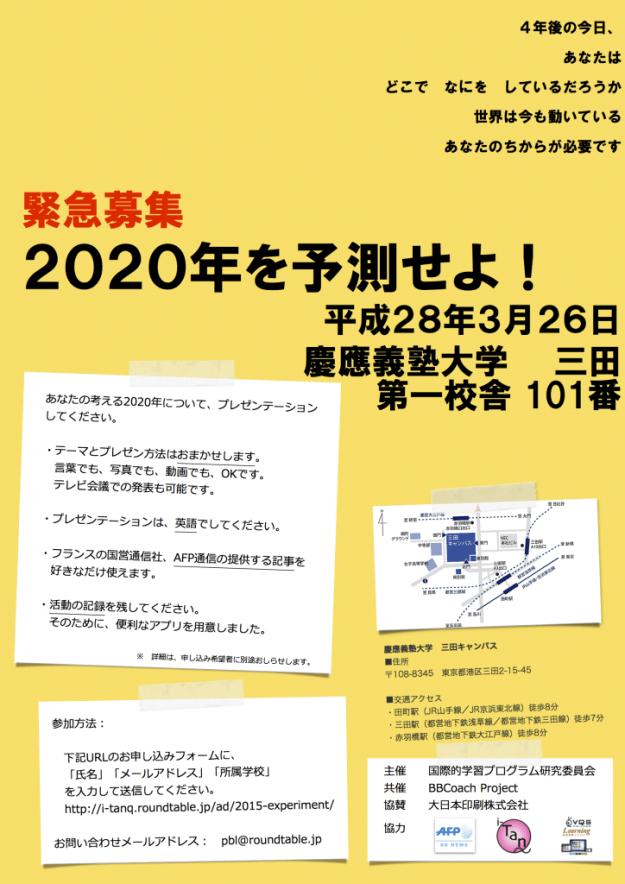 20160309-2.2020を予測せよ