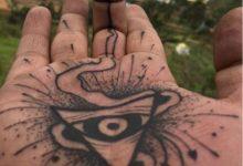 inside hand spiritual tattoo