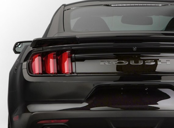 Roush   Engineering  Prototyping  Manufacturing  Testing   Dev Roush Performance Parts  rear view of black Mustang