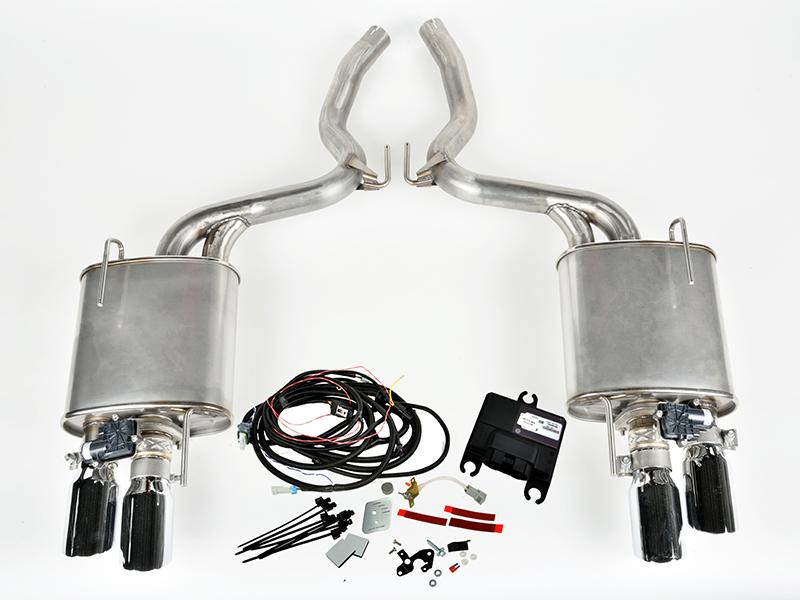 2015 2017 mustang 5 0l v8 roush quad tip active exhaust kit roush performance