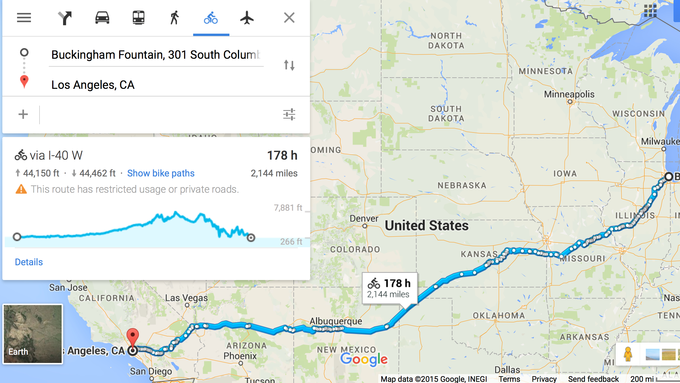 Route   Route   Four Corners USA Biking Adventure - Chicago map route 66