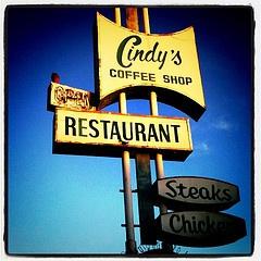 Cindy's Eagle Rock Restaurant sign