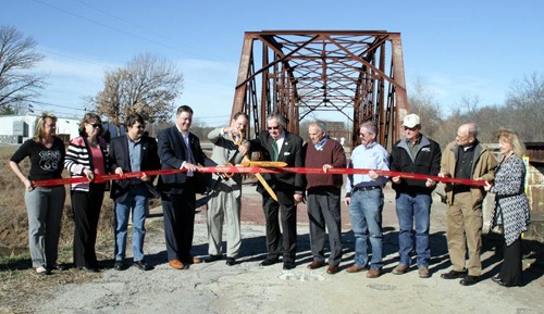Rock Creek Bridge ribbon cutting