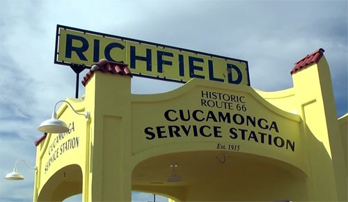 New paint job, sign unveiled for Cucamonga Service Station