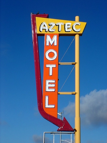 Aztec Motel sign, Albuquerque