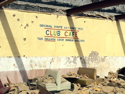 What's left of the Club Cafe