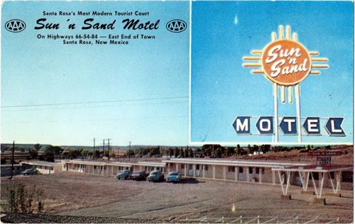 Sun'n Sand Motel postcard