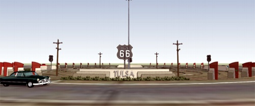 Tulsa traffic circle rendering