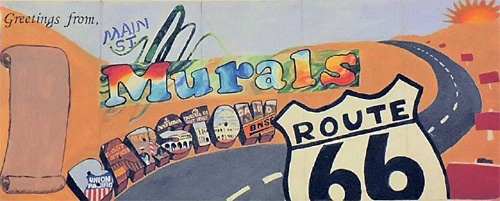 New Route 66 mural being painted in Barstow