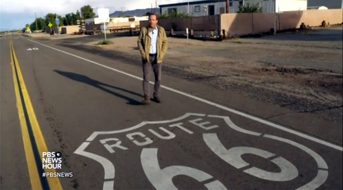 "Route 66 featured on ""PBS NewsHour"""