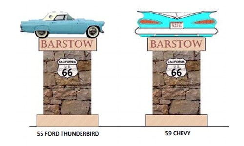Construction of Barstow Route 66 signs to begin next month