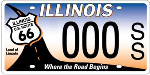 Illinois Route 66 motorcycle license plate goes on sale