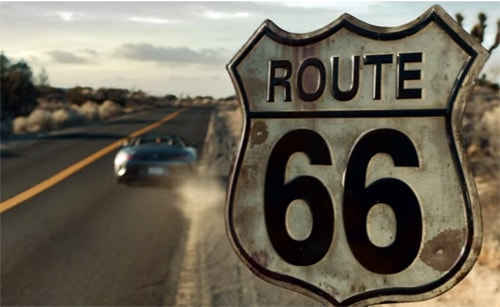 Route 66 makes an appearance in Mercedes Super Bowl ad
