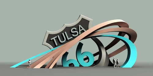 Route 66 sculpture chosen for Admiral Traffic Circle in Tulsa