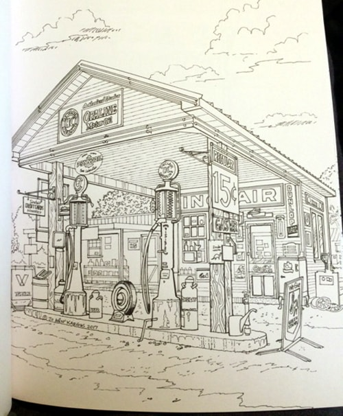 Book Review Route 66 Splendor An Adult Coloring