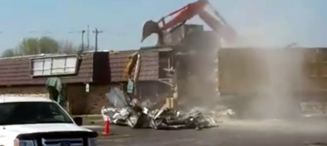 The Tropics building in Lincoln torn down