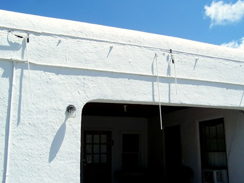 Boots Court, 66 Drive-In suffer hail damage
