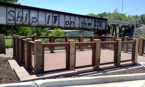 "Photo deck dedicated for ""Ship It on the Frisco"" trestle"