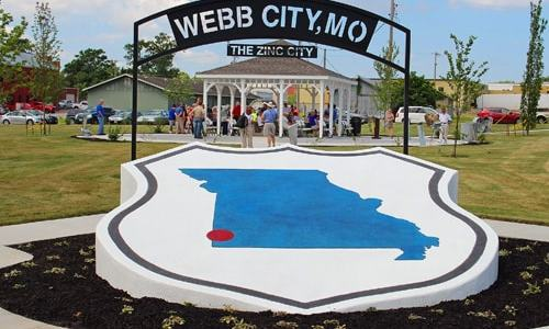 Cardinal Route 66 Memorial Park in Webb City dedicated