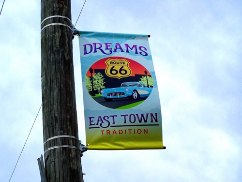 Rebranding of Joplin's East Town includes more Route 66 signs