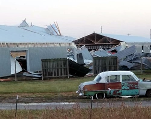 Video Tornado Damages Country Classic Cars Near Staunton Route