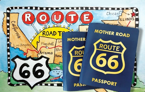 Route 66 Navigation creators working on a Route 66 Passport