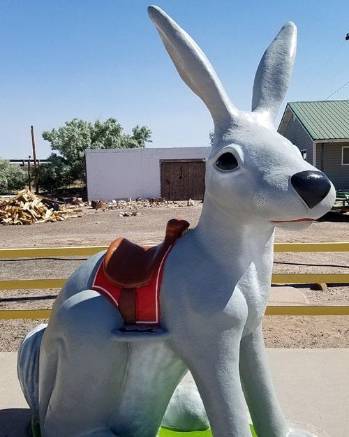 Big jackrabbit restored at Jack Rabbit Trading Post