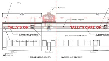 A closer look at the new neon coming for Tally's Good Food Cafe in Tulsa