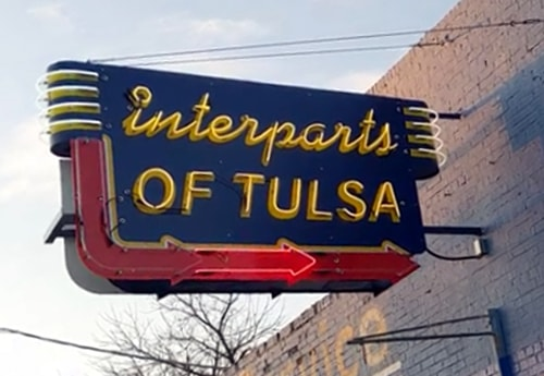 New Interparts of Tulsa neon sign is unveiled