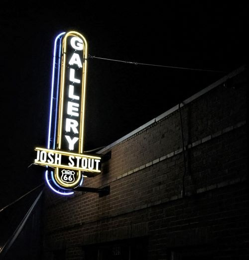 New retro sign goes up at Josh Stout Gallery in southwest Tulsa
