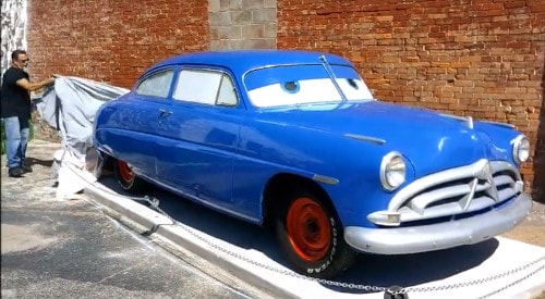 Doc Hudson replica from 'Cars' movie unveiled at Gearhead Curios in Galena