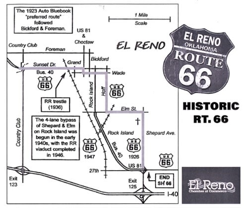 El Reno hosting a cruise Friday on the original alignment of Route 66