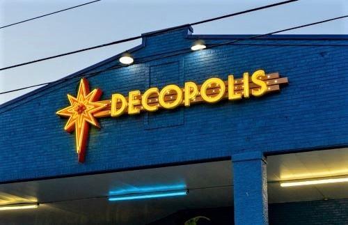 Decopolis becomes 24th recipient of Tulsa's Route 66 Neon Sign Grant Program