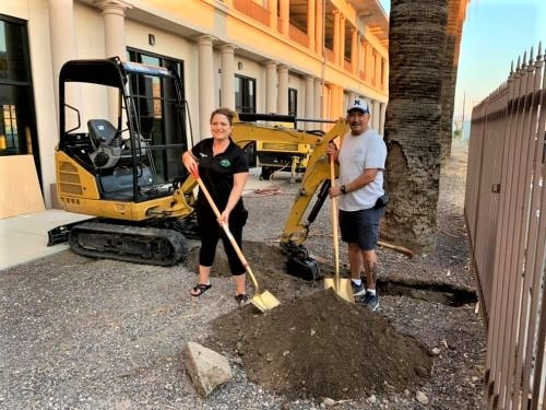 Needles Chamber breaks ground on a new office, visitors center in El Garces