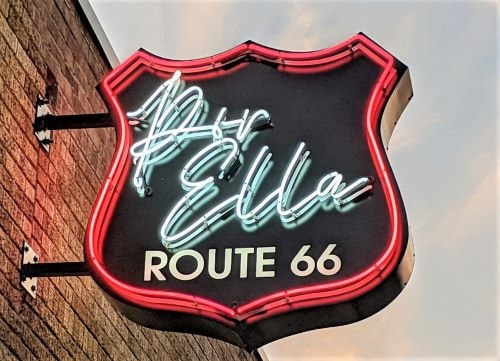 27th sign lights up with Tulsa's Route 66 Neon Sign Grant Program