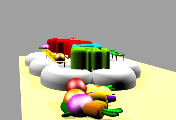 発泡スチロール造形 おやつ工房 シミュレーション画像