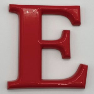 ABS樹脂装飾切り文字 R面取り加工